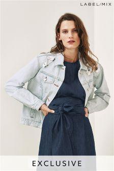 Mix/Anne Bernecker Embellished Denim Jacket