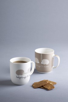 Set Of 2 Hedgehog Mugs
