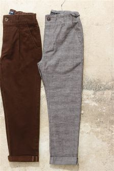Check Chino Trousers (3-16yrs)