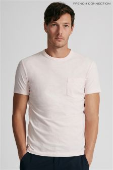 French Connection Pink Chest Pocket T-Shirt