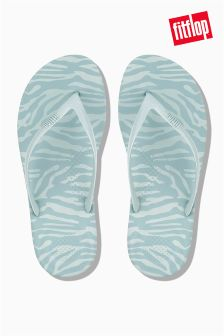 FitFlop™ Aqua Tiger Print Iqushion Ergonomic Flip Flop