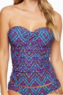 Figleaves Purple Bellini Underwired Tankini Top