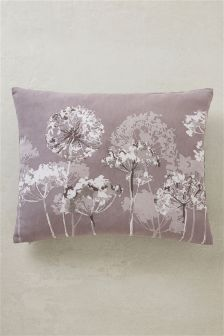 Embroidered Allium Cushion