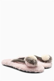 Pom Toe Thong Slippers