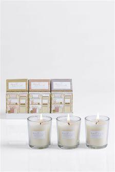 Set of 3 Honeysuckle & Jasmine Candles
