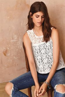 Lace Layer Shell Top