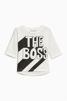 Long Sleeve The Boss T-Shirt (3mths-6yrs)