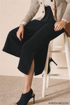 Karen Millen Black Vent Detail Culotte