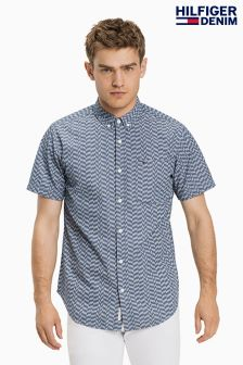 Hilfiger Denim Blue Regular Geo Print Shirt