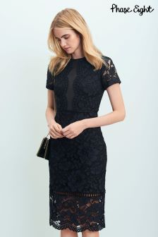 Phase Eight Navy Darena Lace Dress