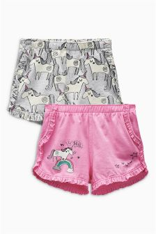 Unicorn Shorts Two Pack (3mths-6yrs)