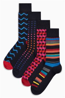 Geo Socks Four Pack