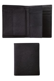 Black Leather Multi Card Wallet