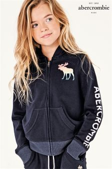 Abercrombie & Fitch Navy Moose Zip Hoody