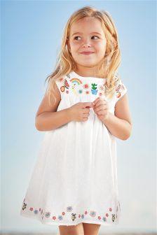 White Embroidered Sundress (3mths-6yrs)