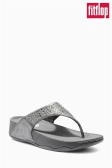 Pewter fitflop™ Novy Toe Post