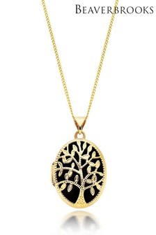 Beaverbrooks 9ct Gold Tree Locket Pendant