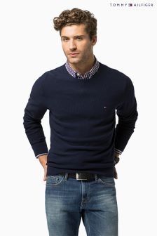 Tommy Hilfiger Navy Crew Neck Jumper