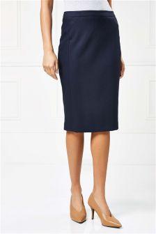 Premium Rib Texture Pencil Skirt