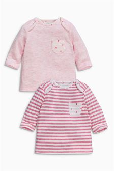 Pink Strawberry T-Shirts Two Pack (0mths-2yrs)