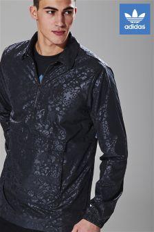 adidas Originals Black 1/2 Zip Coach Jacket