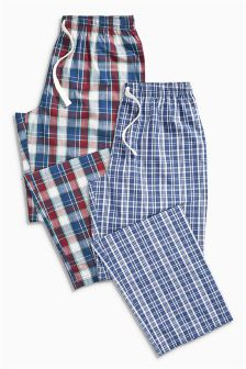 Check Long Bottoms Two Pack