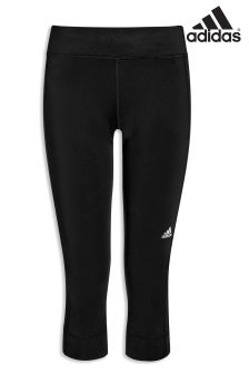 adidas Black Run 3/4 Tight
