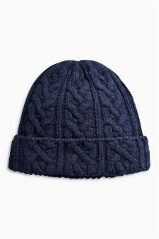 Wool Rich Cable Beanie