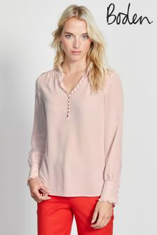 Boden Chalky Rose Ella Silk Blouse