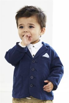 Navy Jersey Jacket (0mths-2yrs)