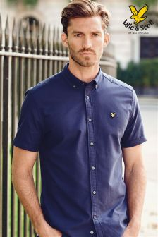Navy Lyle & Scott Short Sleeve Shirt