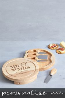 Wooden Wedding Cheeseboard Gift Set By Loveabode