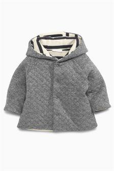 Grey Jersey Hoody (0-18mths)