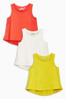 Multi Tropical Vests Three Pack (3-16yrs)
