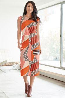 Print Spliced Dress