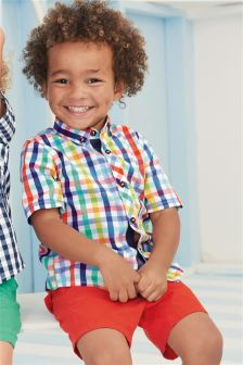 Short Sleeve Gingham Shirt (3mths-6yrs)