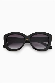 Bee Detail Chunky Frame Sunglasses