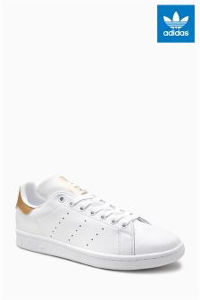 adidas White/Gold Stan Smith
