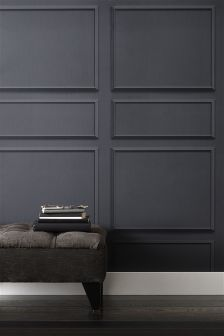Paste The Wall Grey Panel Wallpaper