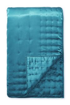 Matt Satin Teal Throw