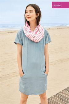 Chambray Joules Elise Washed Woven Dress