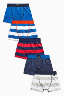 Bold Stripe Trunks Five Pack (2-16yrs)
