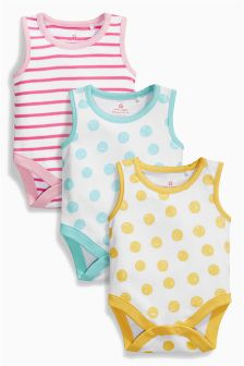 Bright Vests Three Pack (0mths-2yrs)