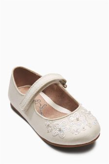 Ivory Bridesmaid Shoes (Younger Girls)