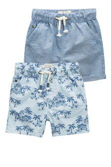 Palm Print Shorts Two Pack (3mths-6yrs)