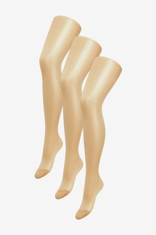 Sheer Gloss Tights Three Pack