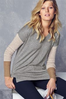 Longline V-Neck Sweater