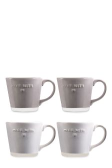 Set Of 4 Made With Love Mugs