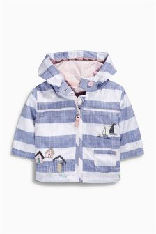 Blue/White Stripe Embellished Jacket (0mths-2yrs)
