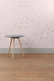 Mauve Butterfly Wallpaper